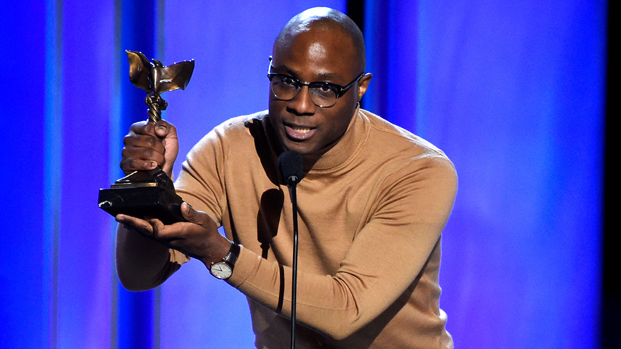 Barry Jenkins accepts the award for best director for If Beale Street Could Talk at the 34th Film Independent Spirit Awards on Saturday, Feb. 23, 2019, in Santa Monica, Calif.