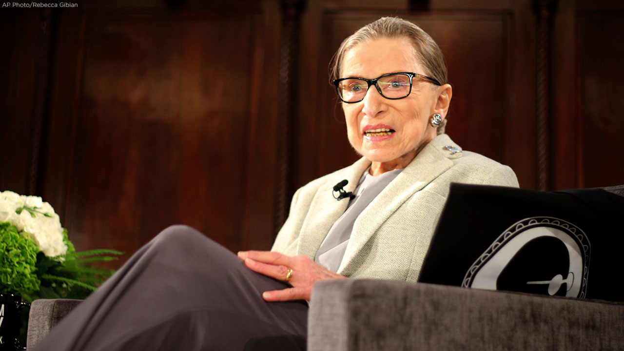 U.S. Supreme Court Justice Ruth Bader Ginsburg attends an event organized by the Museum of the City of New York with WNET-TV on Saturday, Dec. 15, 2018, in New York.