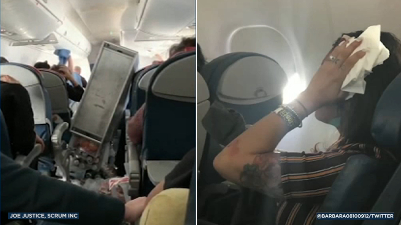 Severe turbulence rocked a flight out of Orange County, leading to injuries, strewn belongings and an early landing on Wednesday, Feb. 13, 2019.