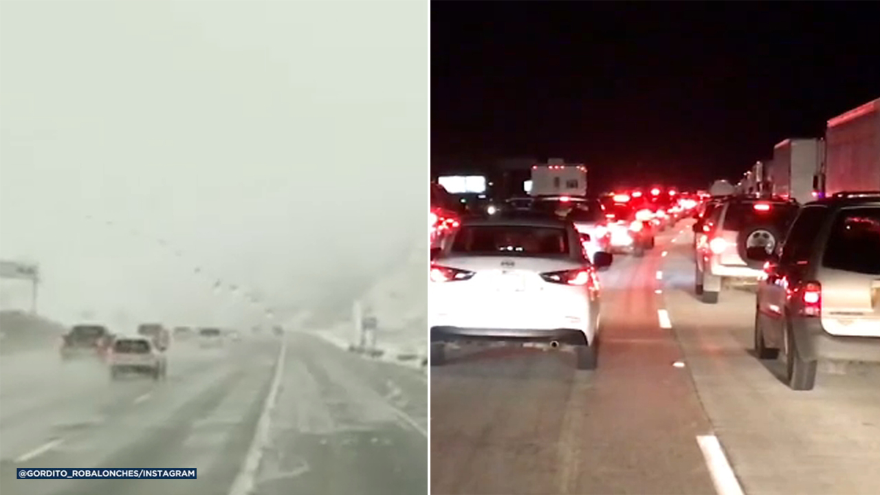 The 5 Freeway in the Grapevine is back open Monday, Feb. 11, 2019, after snow and freezing conditions caused it to close in both directions.