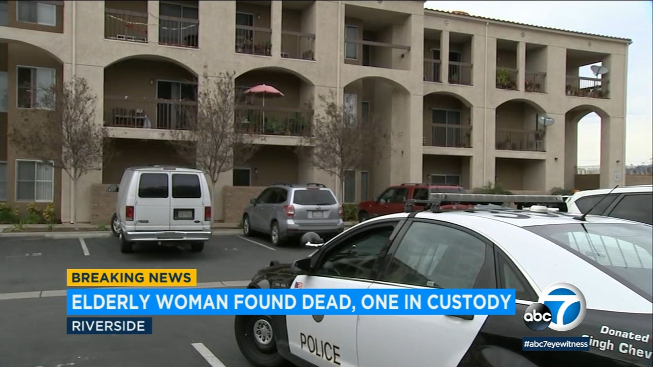 A man has been detained in connection with the suspected homicide of an elderly woman at a facility in Riverside.