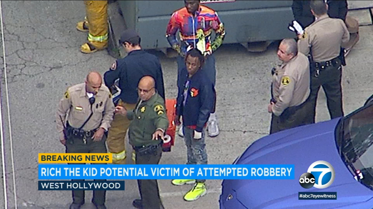 Rapper Rich the Kid was apparently one of several victims in a robbery and assault in West Hollywood.