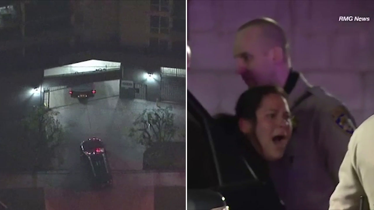A woman was taken into custody after being suspected of leading authorities on a chase that ended in an apartment complex in Atwater Village.