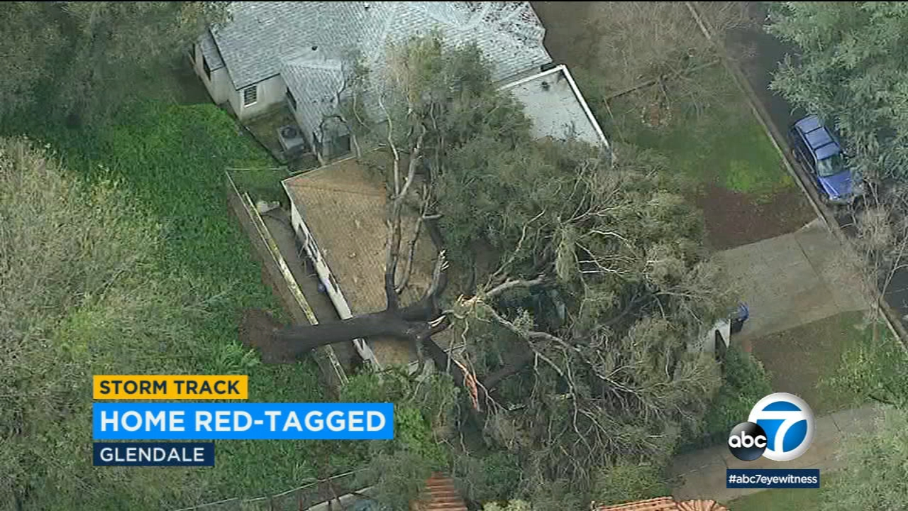 A massive tree came crashing down on a home in Glendale, crushing a bedroom and leaving the house red-tagged.