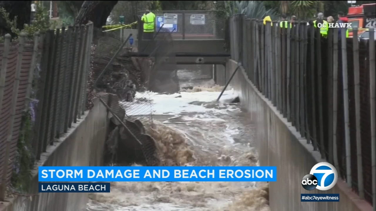 Storm leaves Orange County beaches with erosion, debris