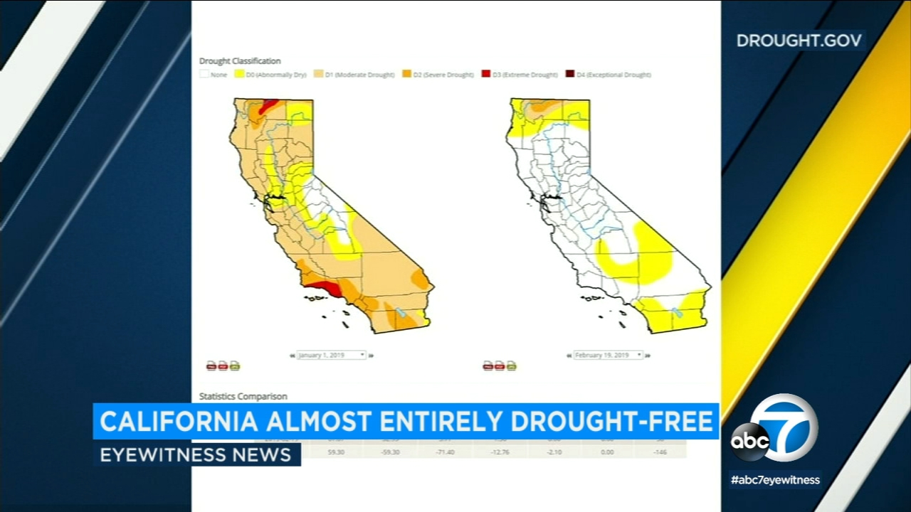 The U.S. Drought Monitor says that just over 67 percent of the state is totally free of any level of dryness.
