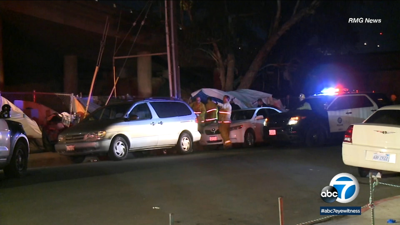 Pico Union: Double shooting near homeless camp leaves 1 dead, 1 hospitalized