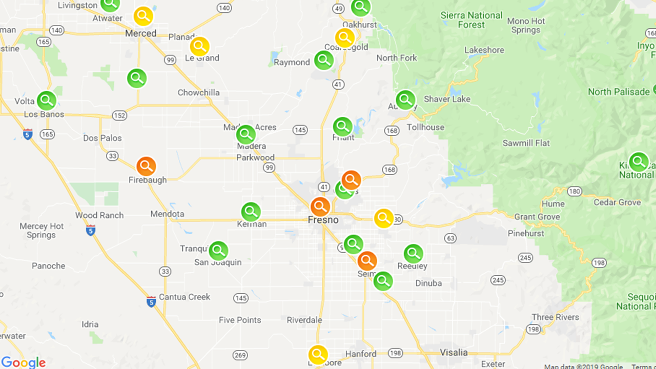 According to PG&E, crews are working to restore power to thousands of customers across the Valley and foothills.