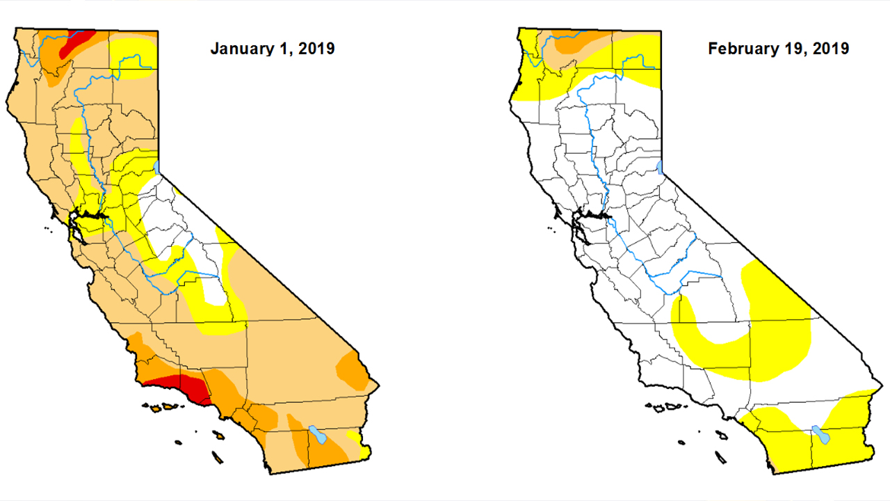 The U.S. Drought Monitor said Thursday that just over 67 percent of the state is totally free of any level of dryness. (United States Drought Monitor)