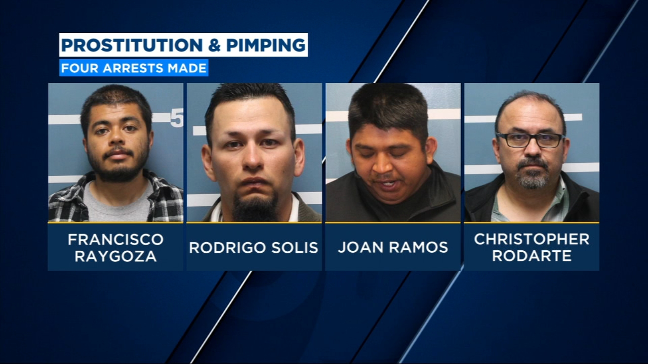 Four Tulare County men arrested in prostitution and pimping sting