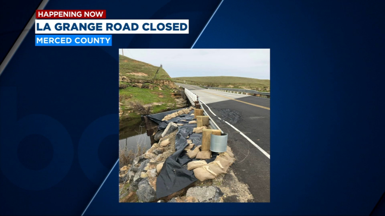 Portion of Merced County road closed due to weak bridge