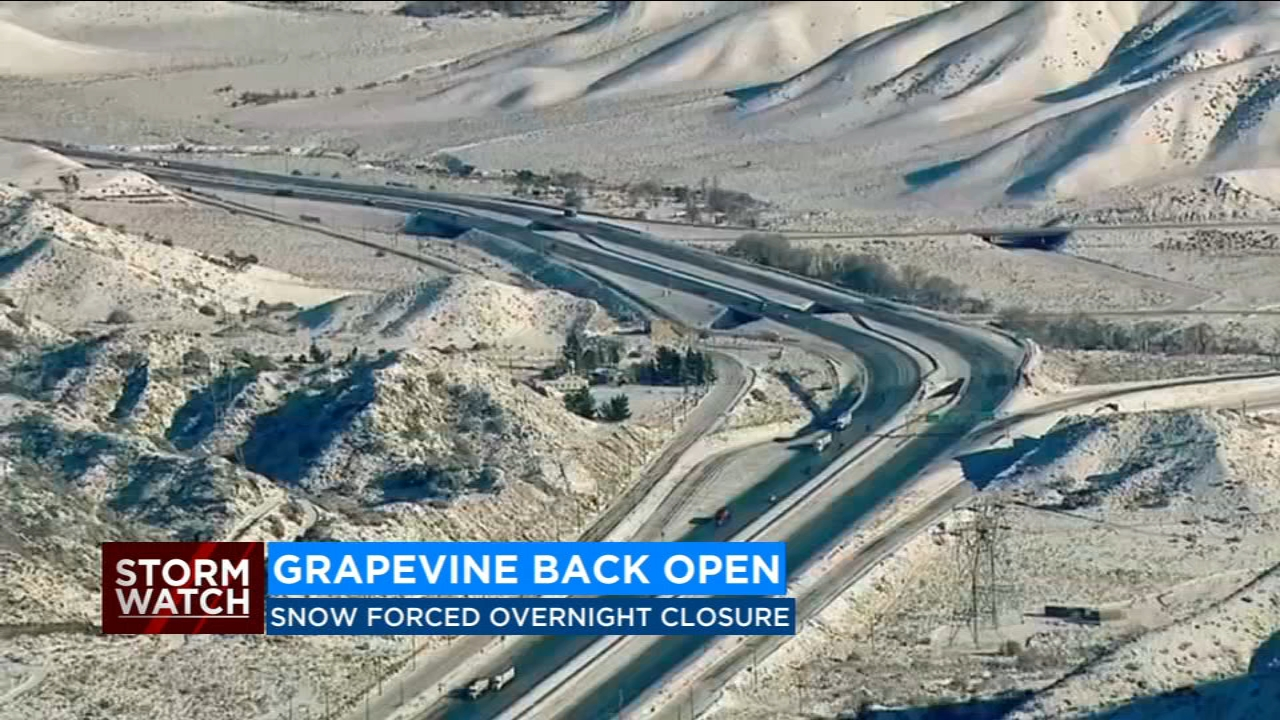 I-5 over the Grapevine now open from both directions