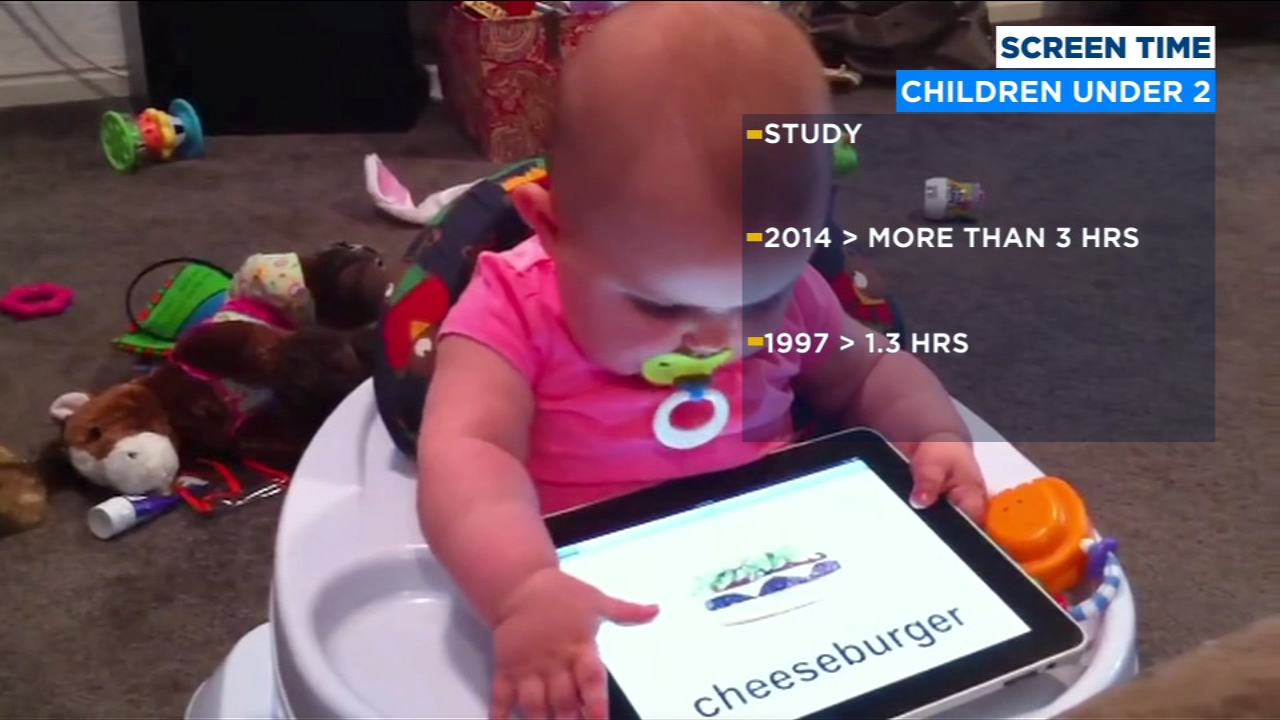 Study: screen time for children under two-years-old has more than doubled