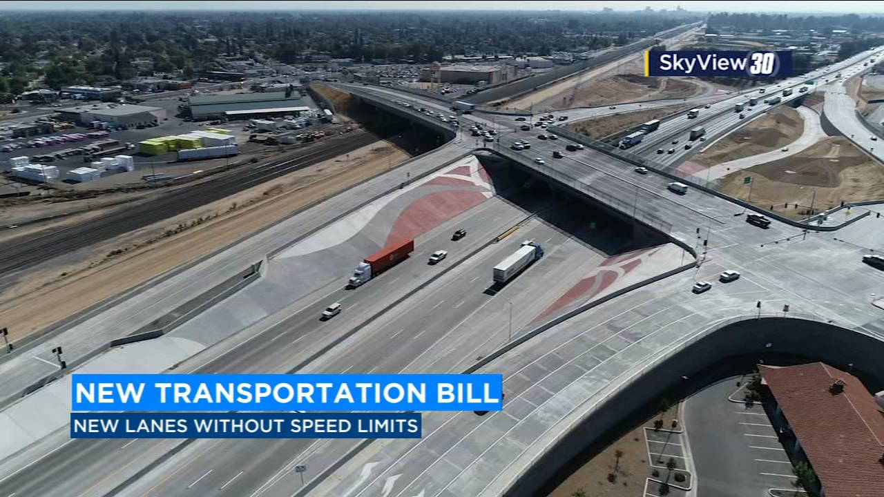 A new bill proposed by a Southern California senator could eliminate the speed limit on lanes of Interstate-5 and Highway 99.