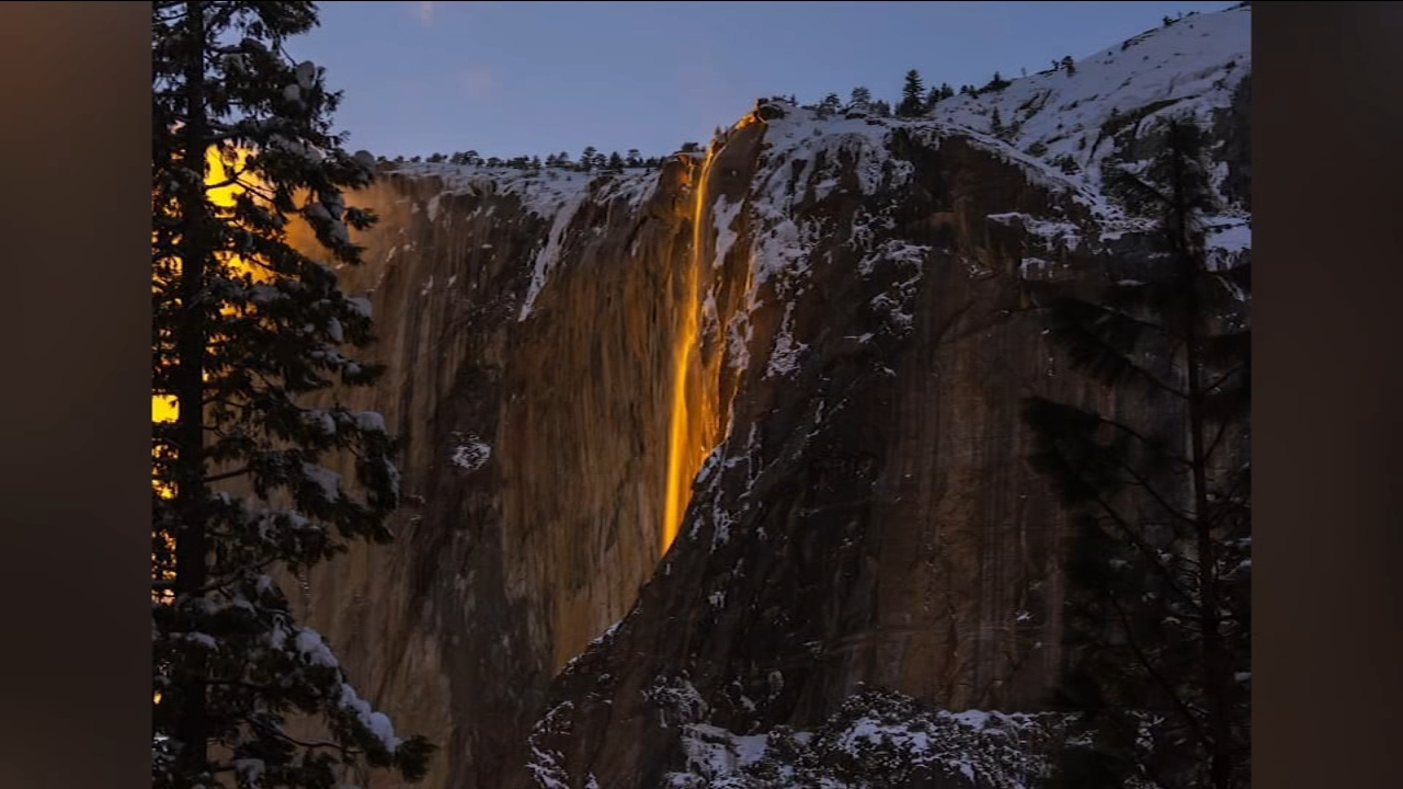 Yosemites famous firefall returns as spectators flock to the park