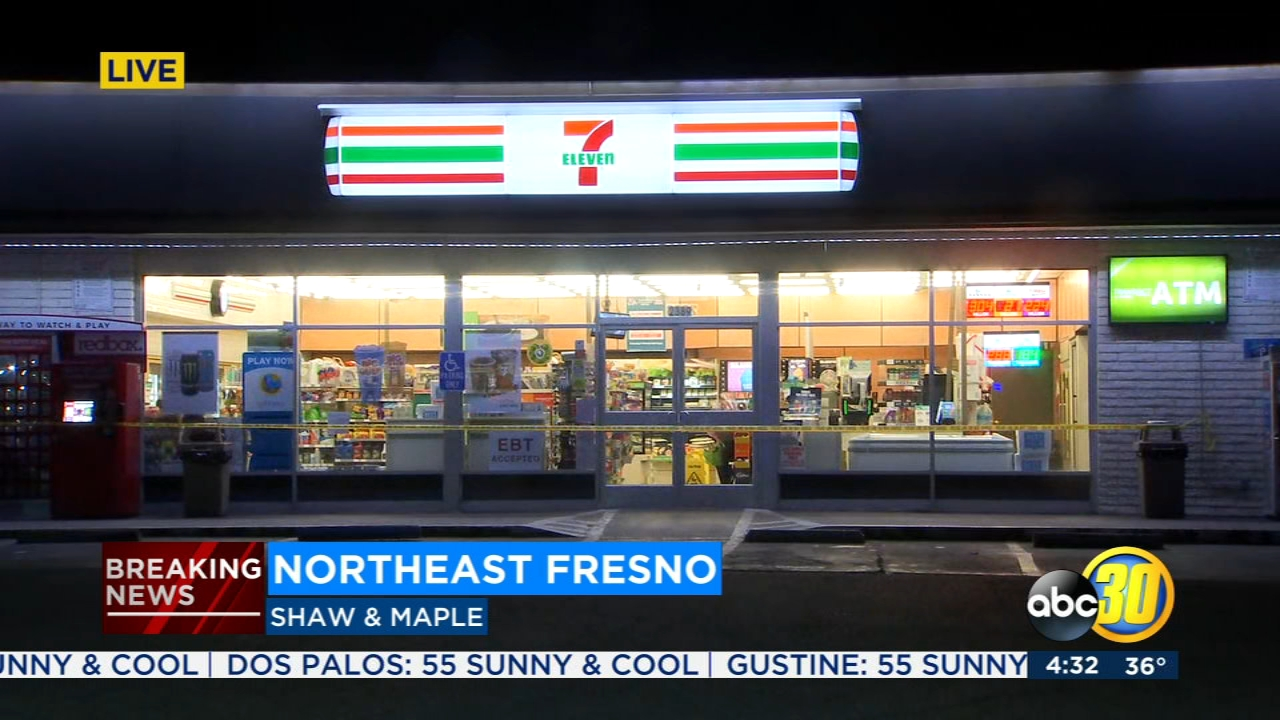 Fresno Police are looking for the suspects involved in an armed robbery near Fresno State.