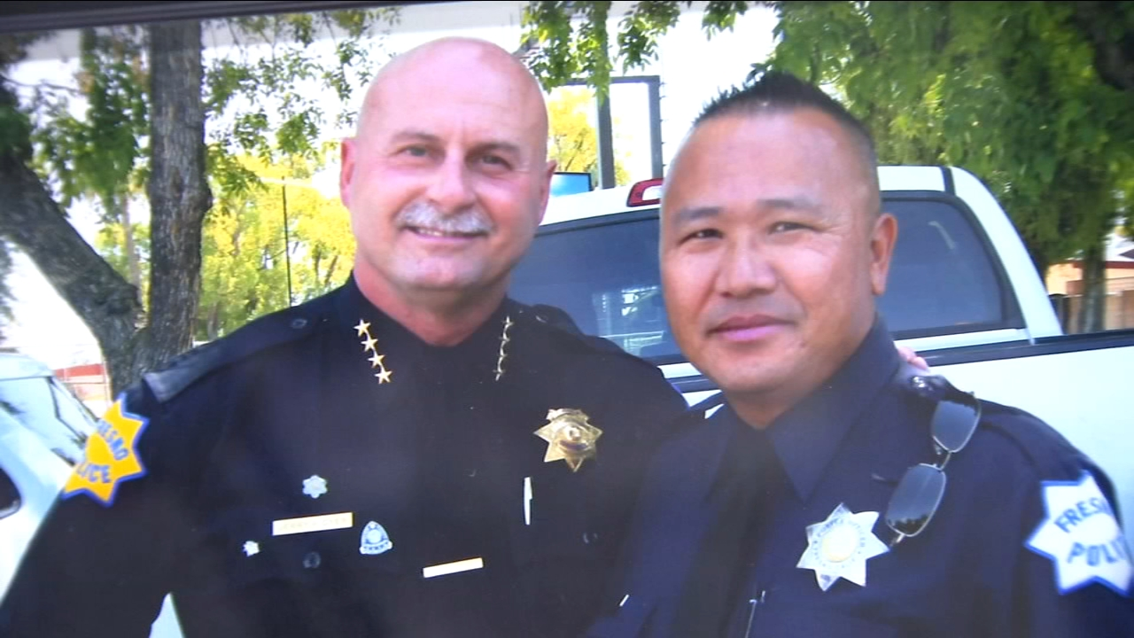 Phia Vang, a 26-year veteran of Fresno Police, was killed in a head-on collision with a wrong-way driver.