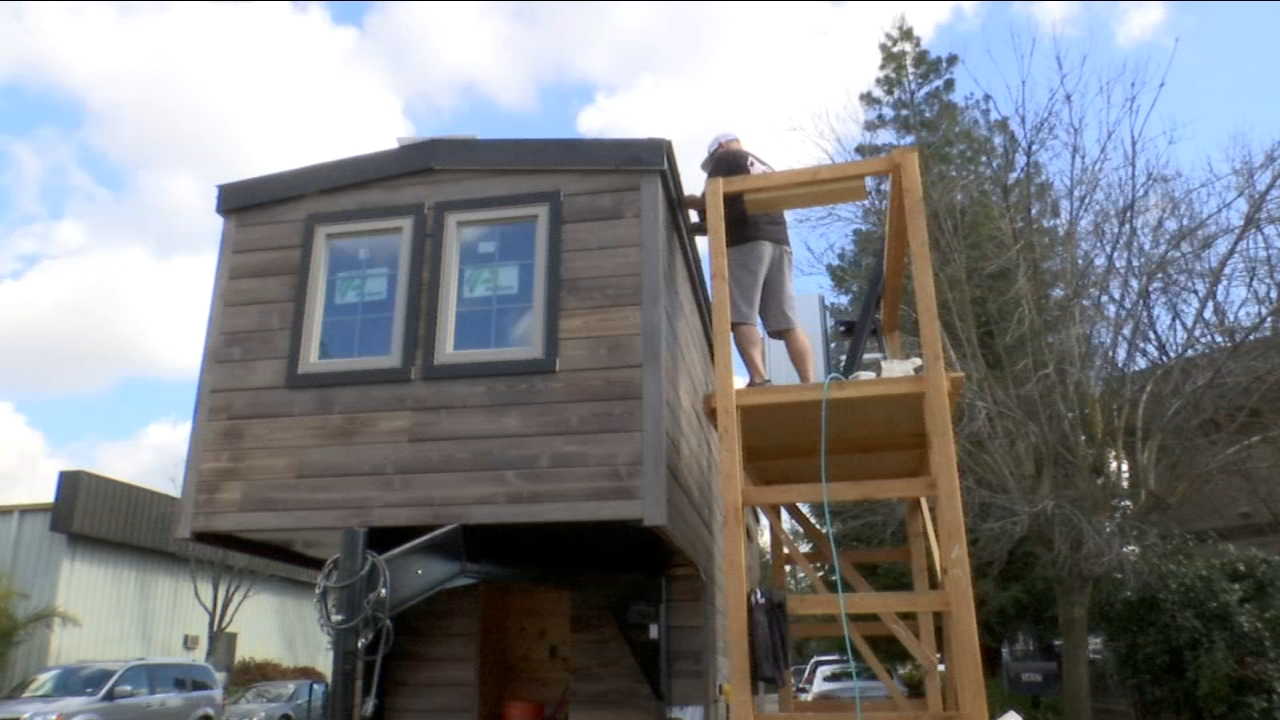 A woman in Clovis donated the money for a Tiny Home to be built for a family who lost everything in the deadly Camp Fire in Paradise.