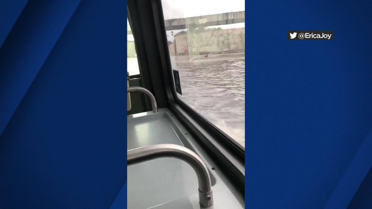 AC Transit investigating bus driver who drove through flooded intersection