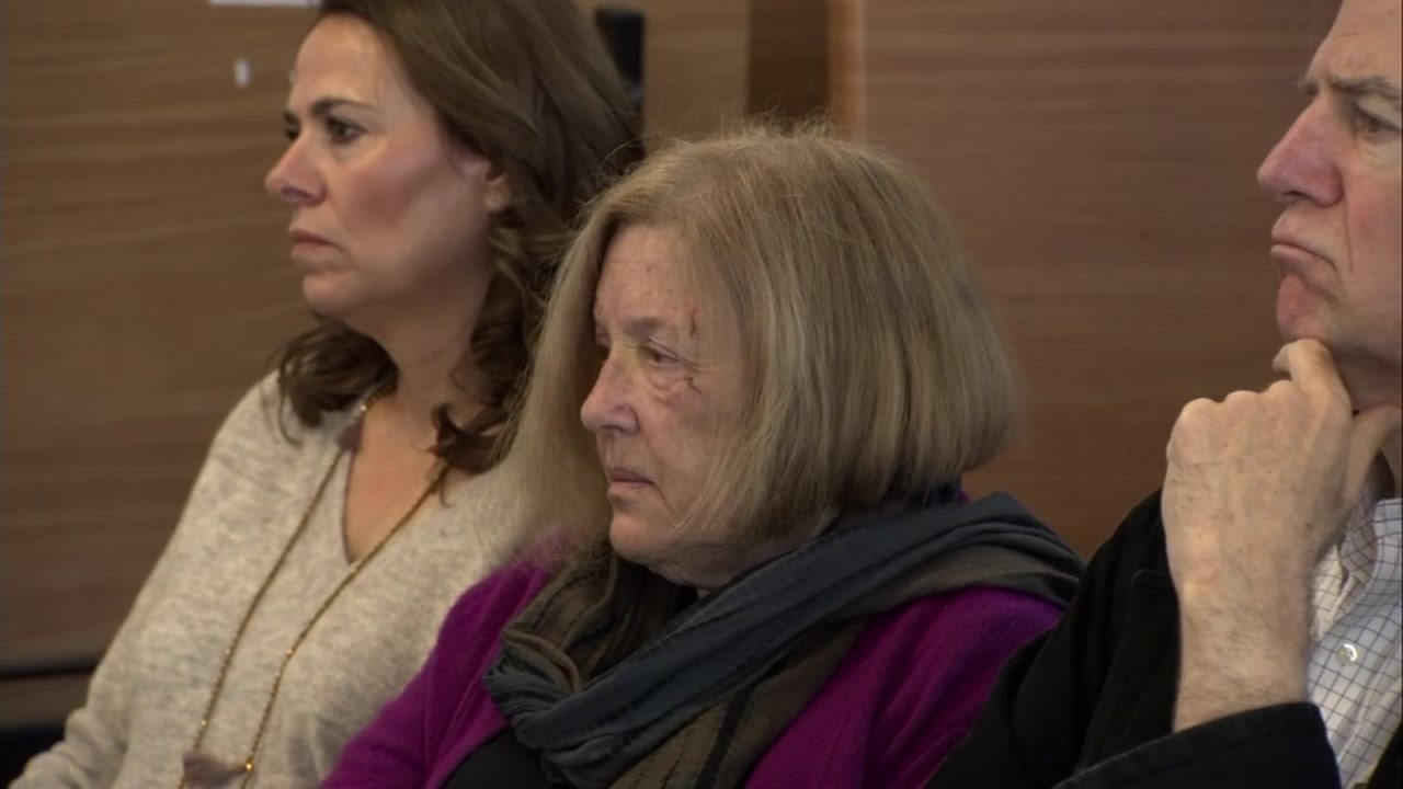 Susan Gordon, center, is seen at a city council meeting in Sausalito, Calif. on Monday, Feb. 18, 2019.