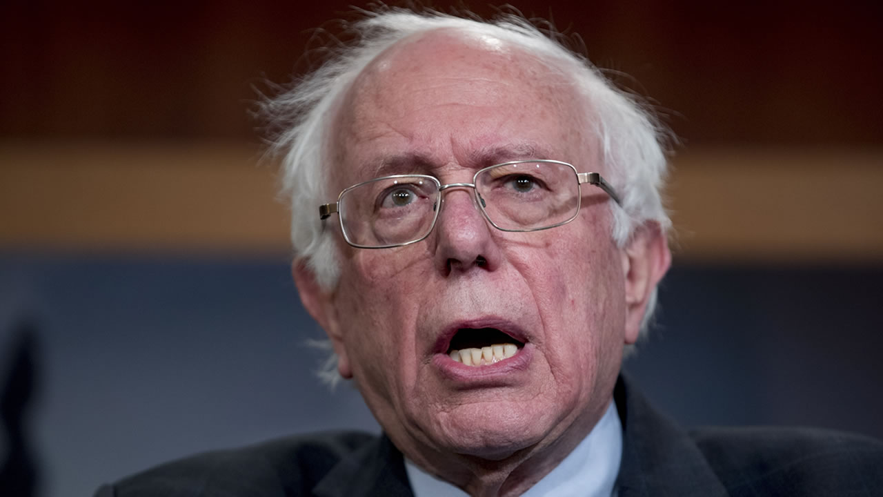 In this Jan. 30, 2019, file photo, Sen. Bernie Sanders, I-Vt., speaks at a news conference on Capitol Hill in Washington.
