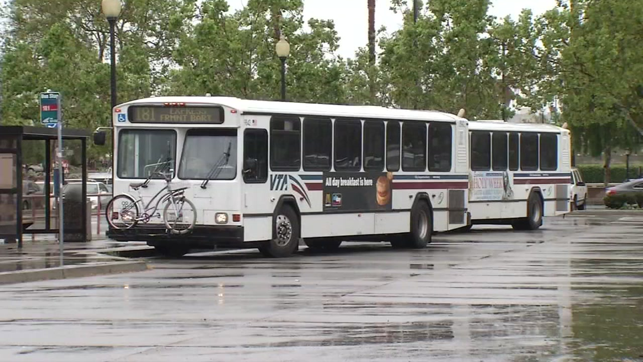 A VTA bus is pictured in this undated file photo.