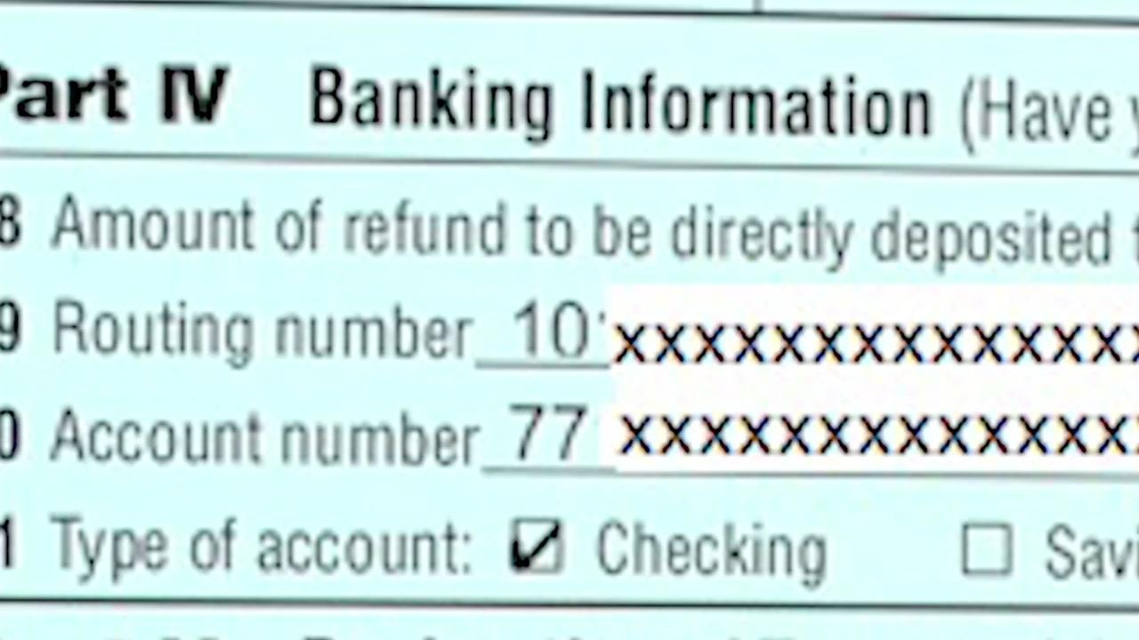 Typo sends tax refund to stranger's account