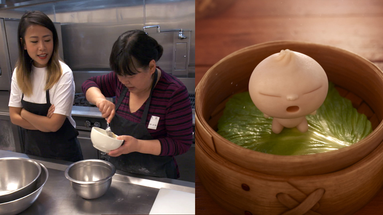 Domee Shi, seen here making dumplings with her mom, is the first female solo director at Pixar nominated for an Oscar for her short animated film, Bao.