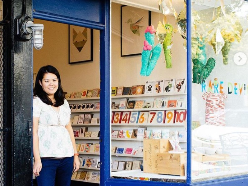 Giselle Gyalzen, owner of Rare Device, outside her Noe Valley shop. | Photo: Rare Device/Instagram