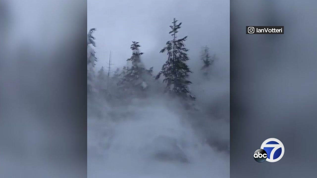This image shows snow in Truckee, Calif. on Saturday, Feb. 9, 2019,
