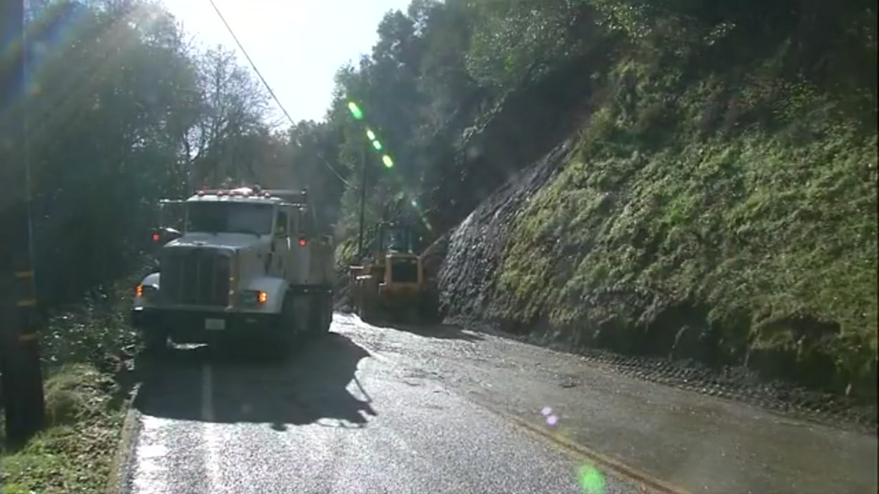 This image shows a landslide in Los Gatos on Friday, Feb. 15, 2019.