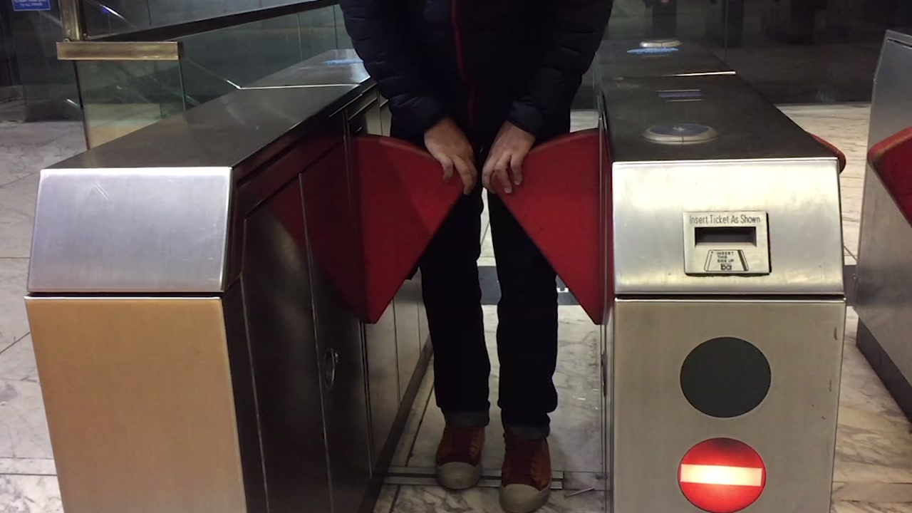 VIDEO: BART tests modified entry gates to stop fare cheats