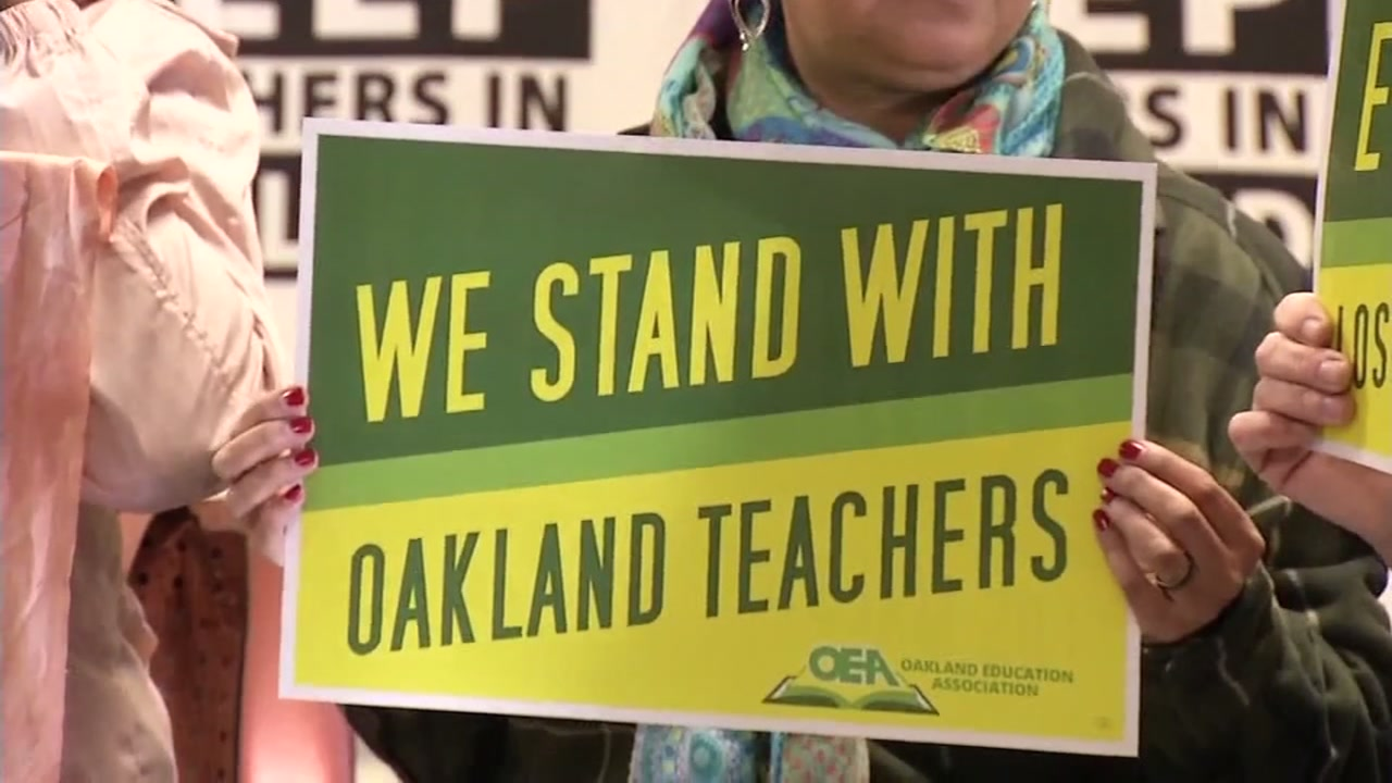 This image was taken on Saturday, Feb. 16, 2019 in Oakland, Calif. as teachers announced they will be going on strike.