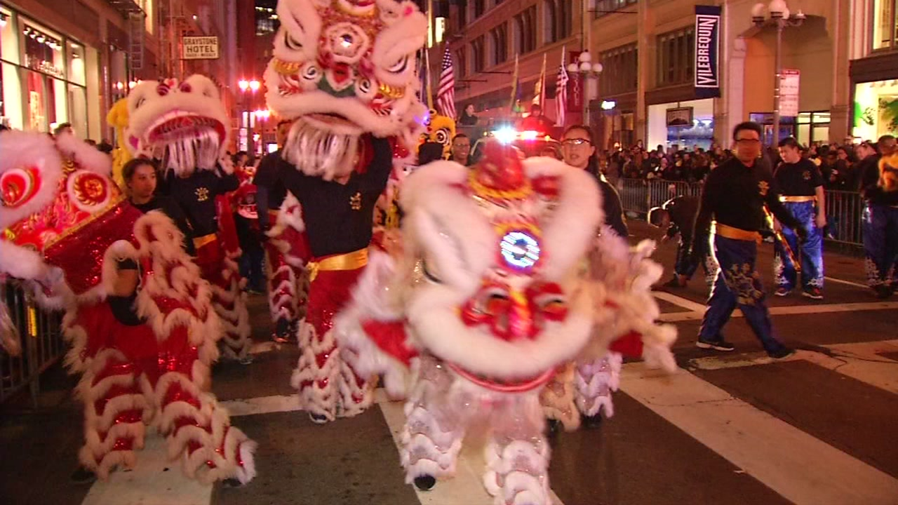 Chinese New Years parade as seen in San Francisco in this undated image.