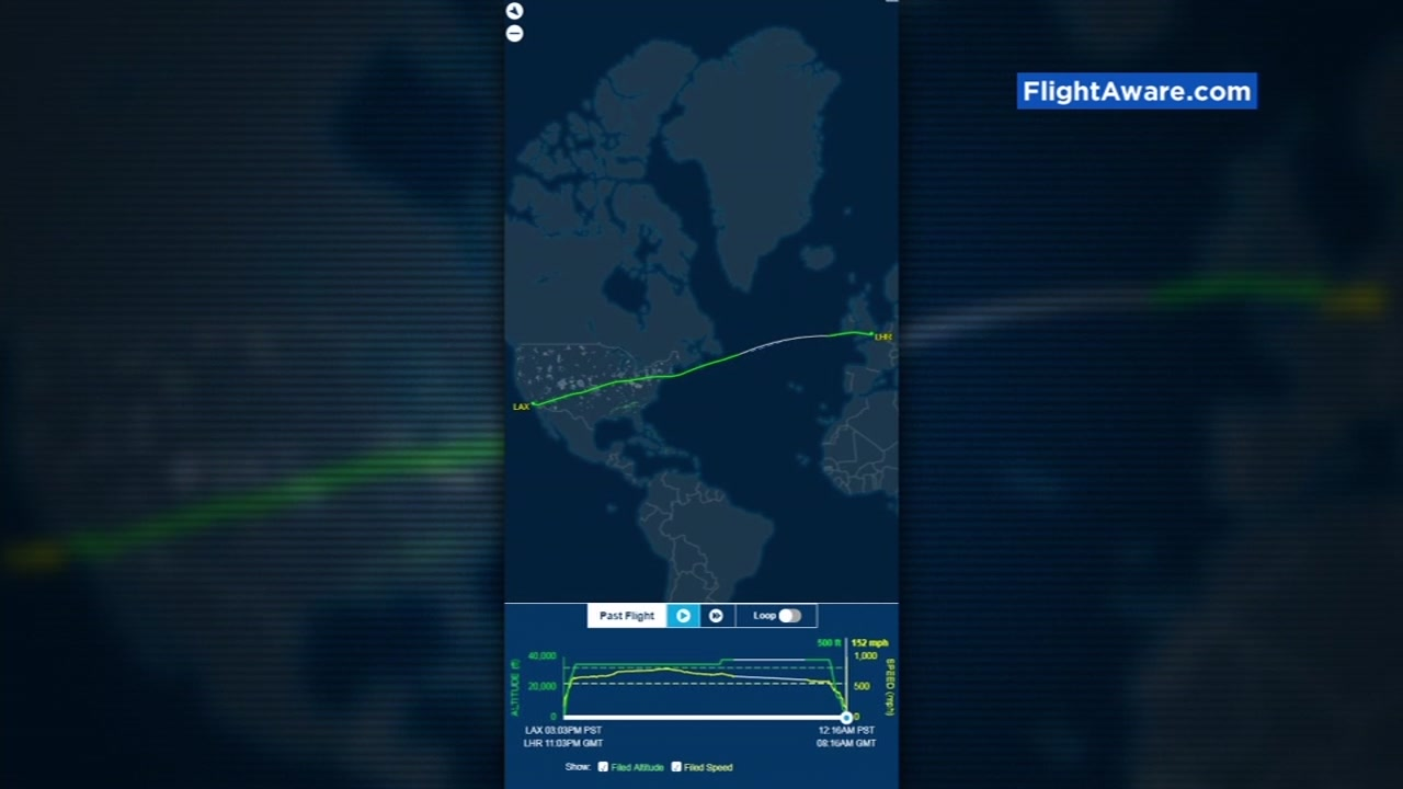 A fast lane in the sky caused by a powerful jet stream is helping some travelers make it to their destinations early.