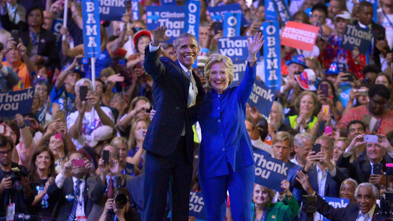 Democratic National Convention 2016 - President Barack Obama and Hillary Clinton