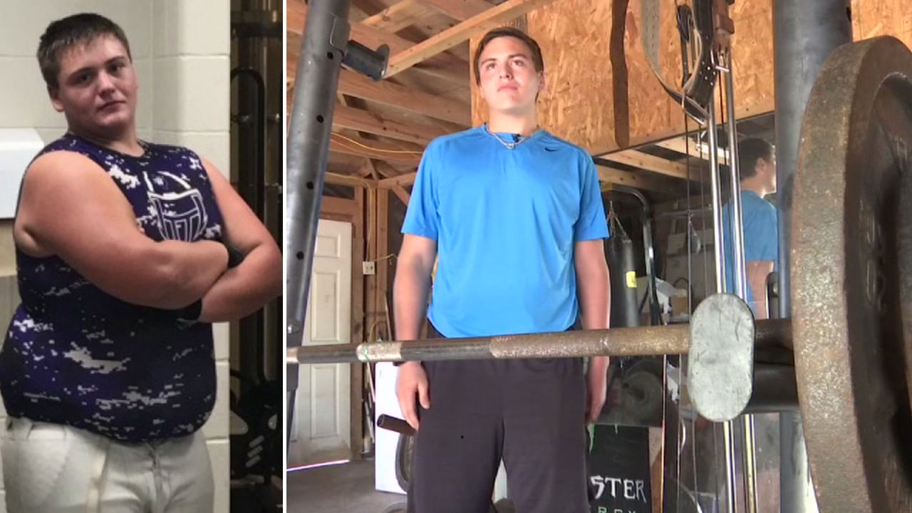 'LOOK AT ME NOW': Teen drops 145 pounds in a year