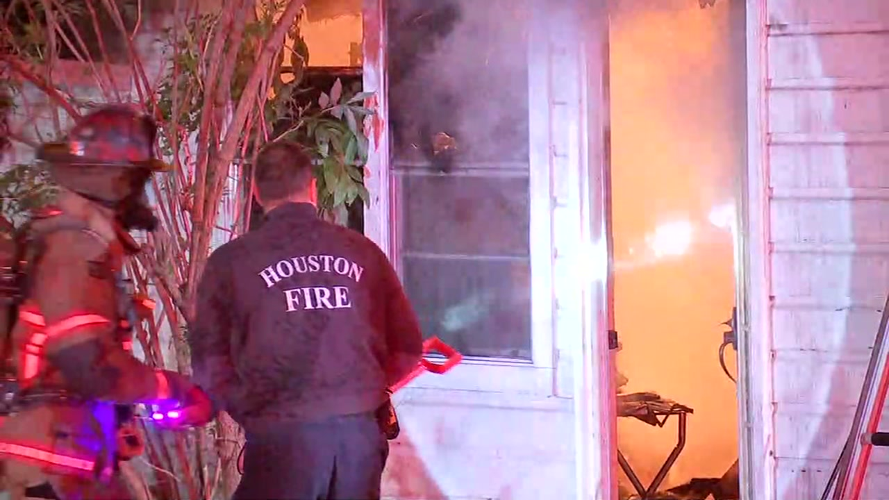 A veteran says a big ball of fire came through his window in northeast Houston.