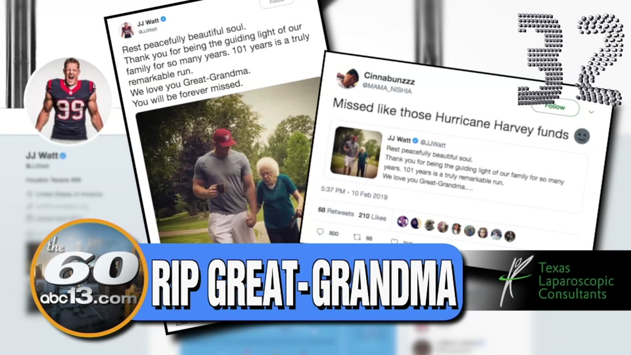 J.J. Watt called out a Twitter user who made a negative comment about his great-grandmothers passing.
