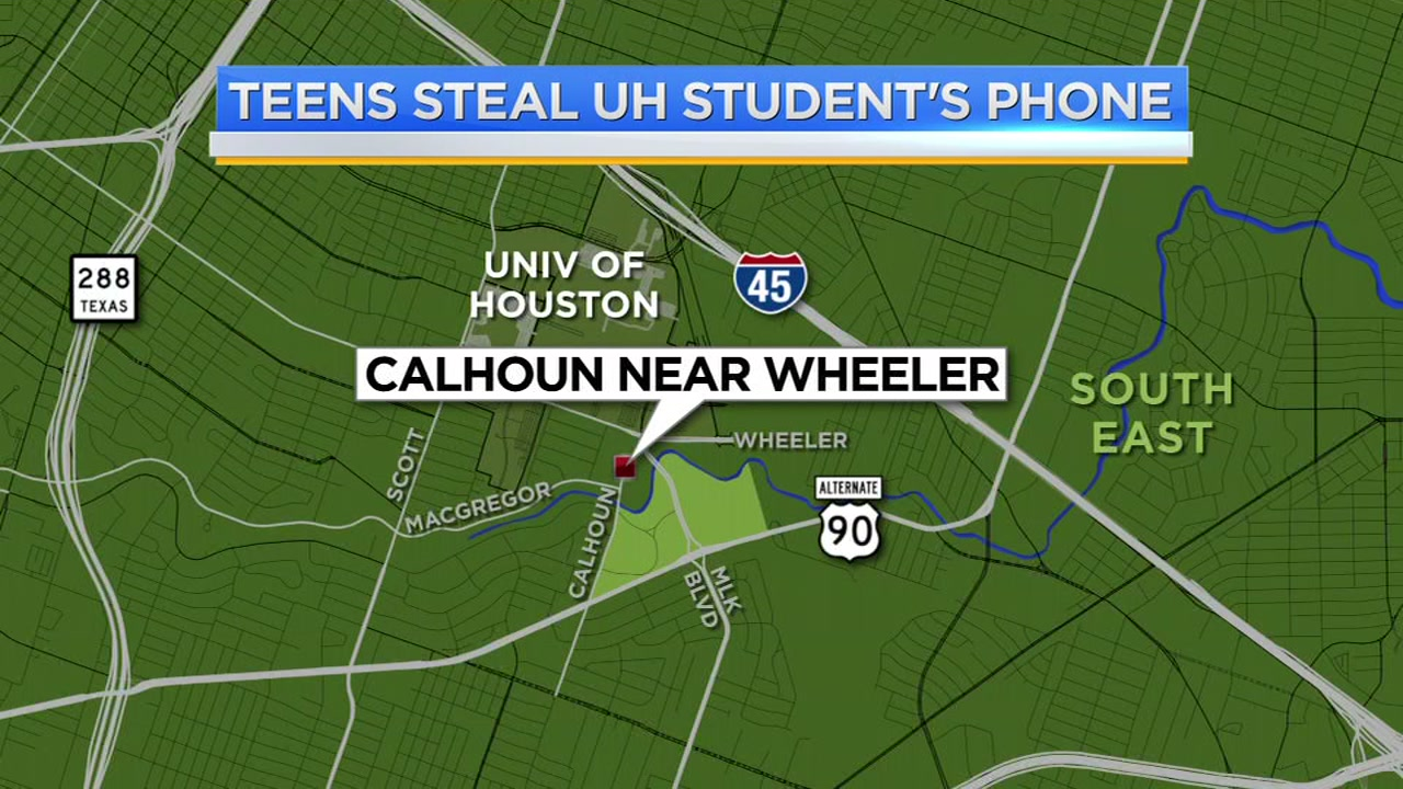 Police say a University of Houston student was attacked by two teenagers who took her phone.