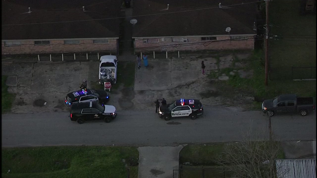 Police were initially called to a building in south Houston for a domestic disturbance.
