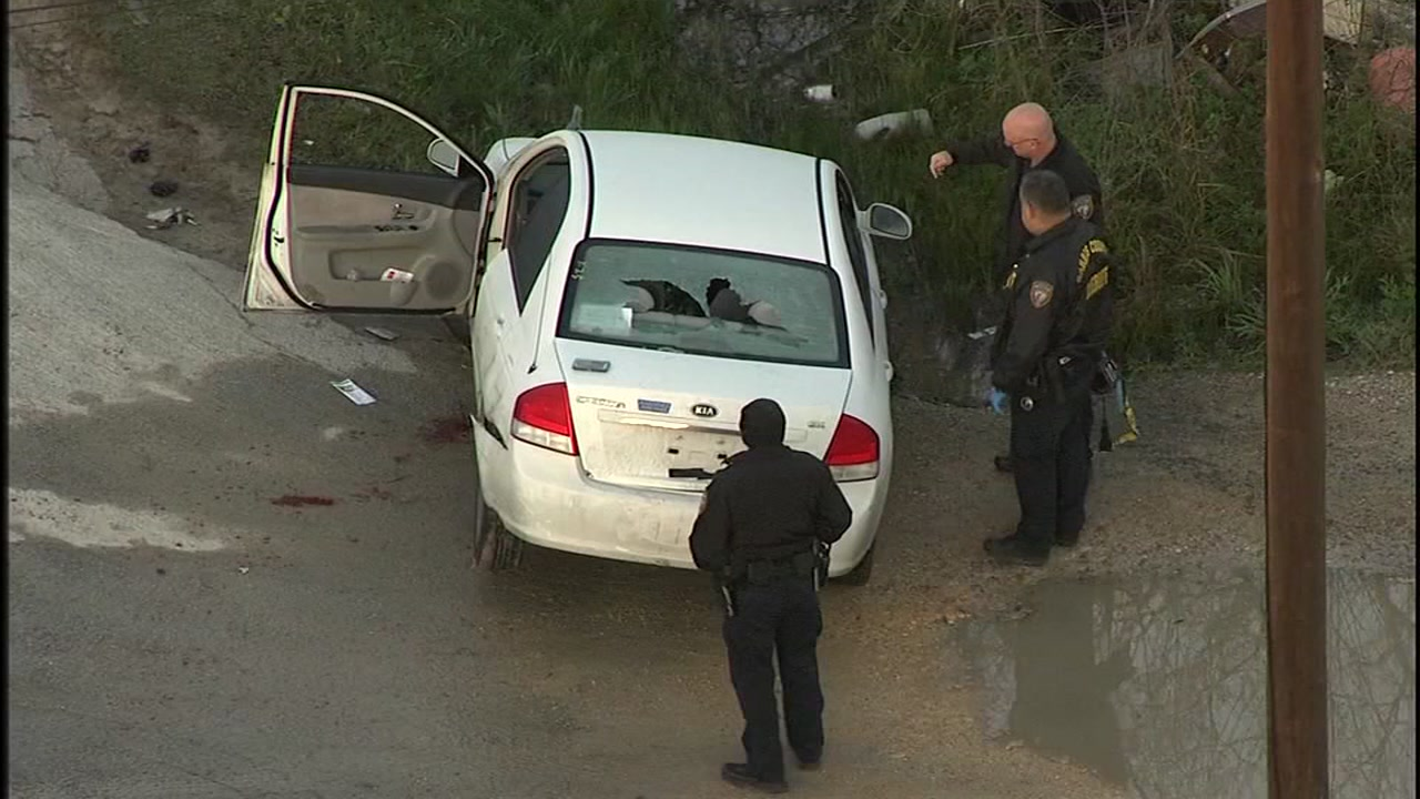 A homeowner shot a man he caught trying to break into his car, deputies say.