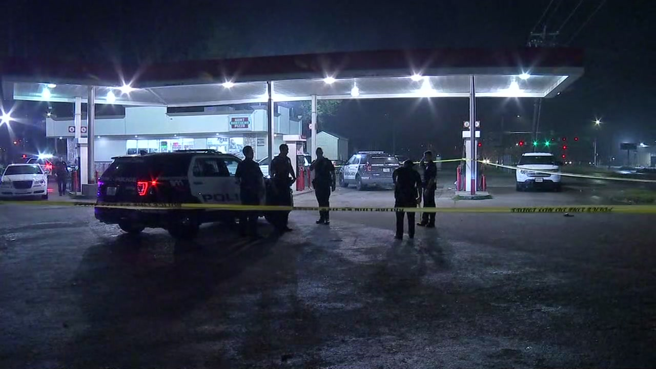 New video at gas station active crime scene