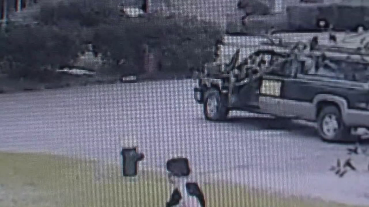 Home security video captured a driver slowing down and getting out of the car as he called for 11-year-old Rome Rivera to get inside his truck.