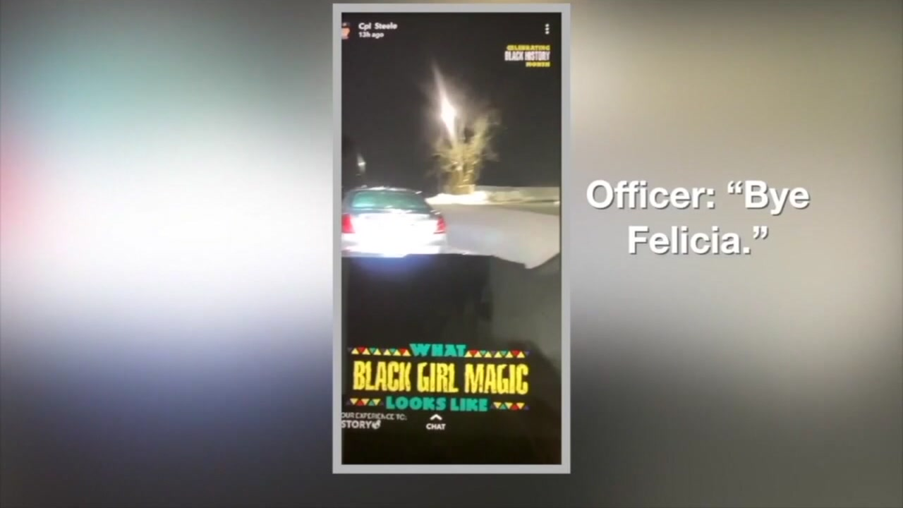 Officer demoted for racially insensitive Snapchat.