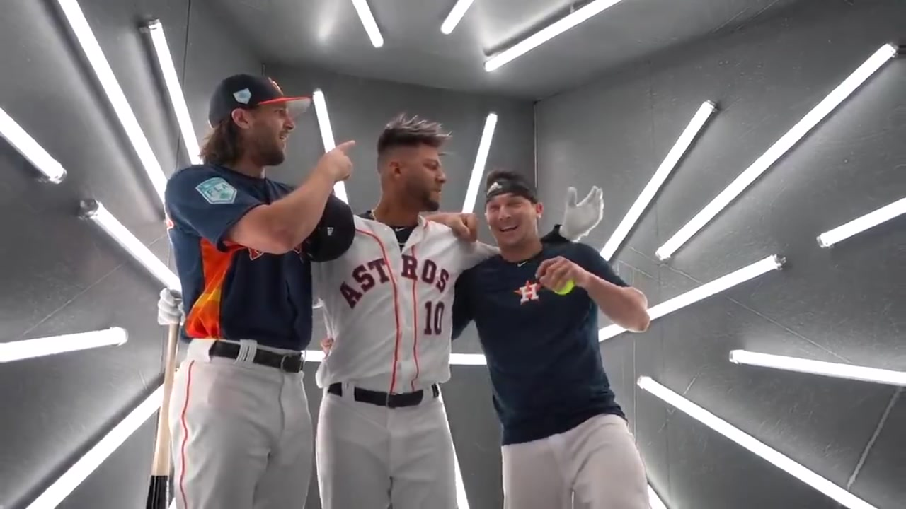 Bregman and Marisnick crash Yulis photoshoot.