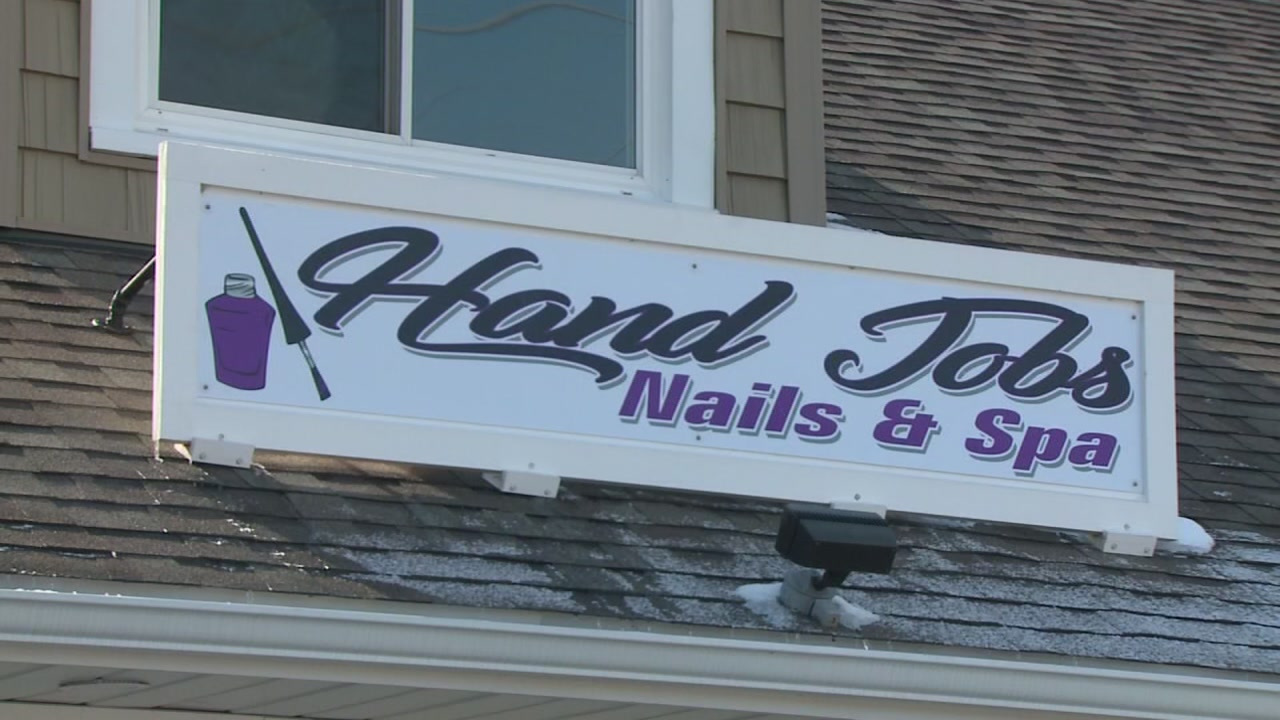 A nail salon owner is under fire for the name of her business.