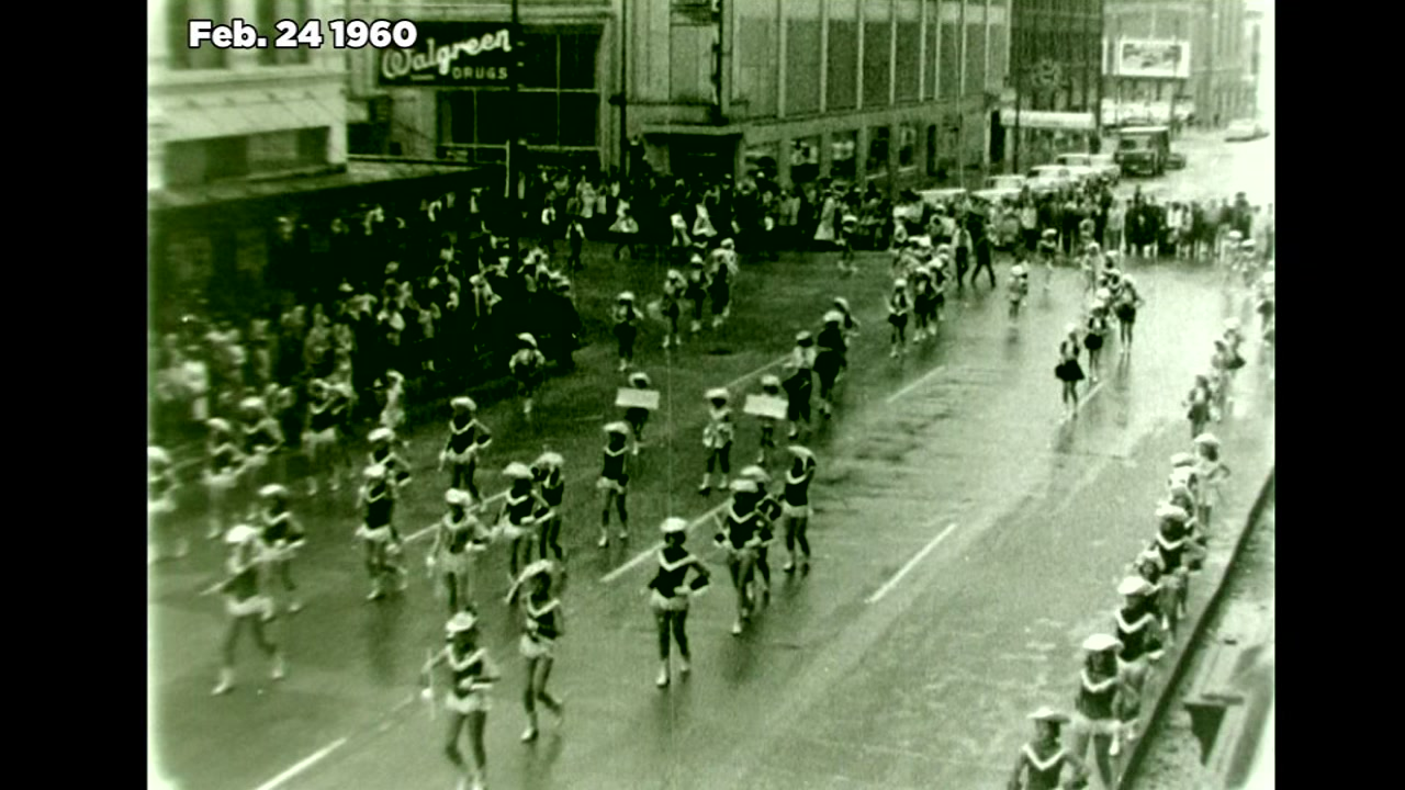 Recently digitized film from the ABC13 archive, shows the trailride and Rodeo parade in 1960.