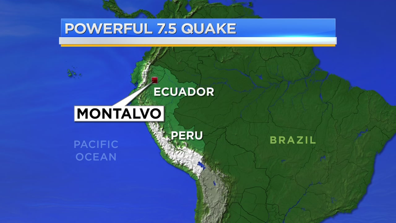 Powerful 7.5-magnitude earthquake hits southern Ecuador