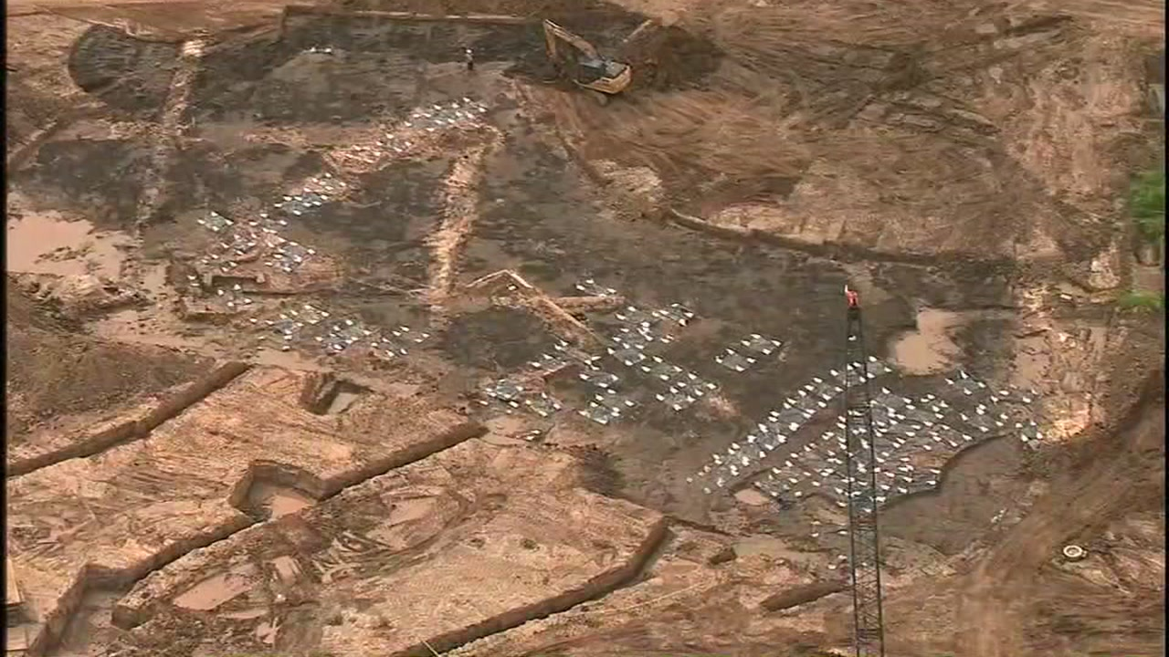 The bodies of nearly 100 slaves discovered during construction will stay where they are for now.
